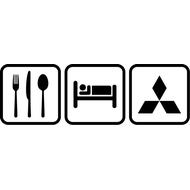 Наклейка Eat Sleep Mitsubishi, фото 1