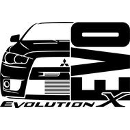 Наклейка Evolution X, фото 1