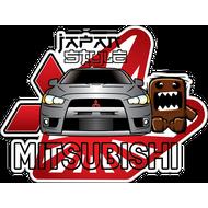 Наклейка Mitsubishi japan style, фото 1