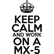 Наклейка Keep Calm and work on a MX-5, фото 1