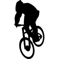 Наклейка Велосипедист, фото 1