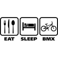 Наклейка Eat sleep bike, фото 1