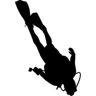 Наклейка Дайвер, фото 1