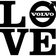 Наклейка Love volvo, фото 1
