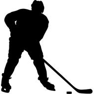 Наклейка Силуэт Хоккеиста, фото 1