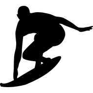 Наклейка Серфингист, фото 1