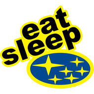 Наклейка Eat Sleep Subaru, фото 1