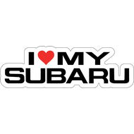 Наклейка I love my Subaru, фото 1