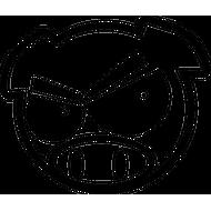 Наклейка Subaru Pig с бровями, фото 1