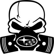 Наклейка Subaru Skull, фото 1