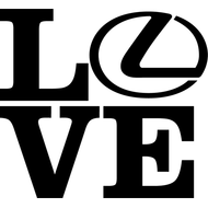 Наклейка Love Lexus, фото 1