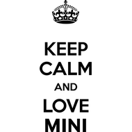 Наклейка Keep Calm and love Mini, фото 1
