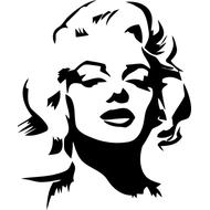 Наклейка Мэрилин Монро, фото 1