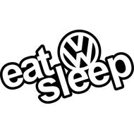 Наклейка Eat sleep VW, фото 1