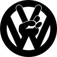 Наклейка VW peace, фото 1