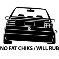Наклейка No fat chicks, фото 1