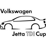 Наклейка VW Jetta TDI Cup, фото 1