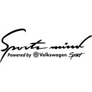 Наклейка Sports mind VW, фото 1