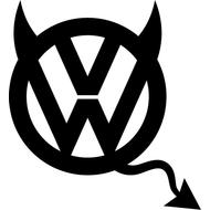 Наклейка VW devil, фото 1