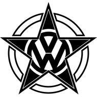 Наклейка VW pentagram, фото 1