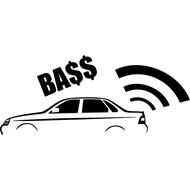Наклейка BASS, фото 1