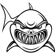 Наклейка Акула-001, фото 1