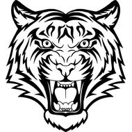 Наклейка Тигр-005, фото 1