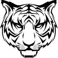 Наклейка Тигр-017, фото 1
