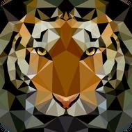Наклейка Тигр-008, фото 1