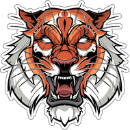 Наклейка Тигр-009, фото 1