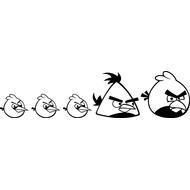 Наклейка Семейка Angry birds, фото 1
