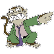Наклейка Злая обезьяна, фото 1