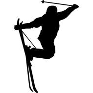Наклейка Лыжник, фото 1