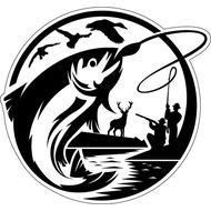Наклейка Охота и Рыбалка, фото 1