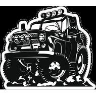 Наклейка УАЗ, фото 1