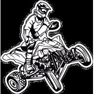 Наклейка Квадроцикл, фото 1