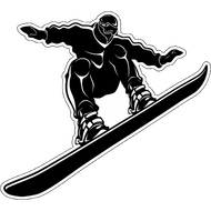 Наклейка Сноубордист, фото 1