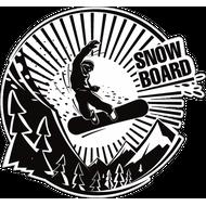 Наклейка Snowboard, фото 1