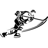 Наклейка Хоккеист на стекло, фото 1
