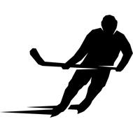 Наклейка Хоккеист на багажник, фото 1