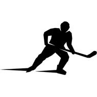 Наклейка Хоккеист справа, фото 1
