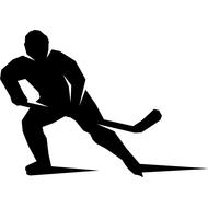 Наклейка Хоккеист слева, фото 1