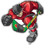 Наклейка Хоккеист цветная, фото 1