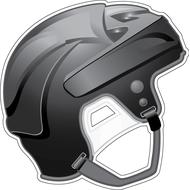 Наклейка Шлем черный, фото 1