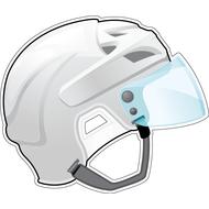 Наклейка Шлем белый, фото 1
