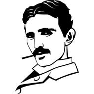 Наклейка Nikola Tesla, фото 1
