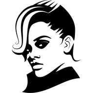 Наклейка Rihanna, фото 1