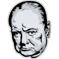 Наклейка  Winston Churchill, фото 1