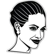 Наклейка Angelina Jolie, фото 1