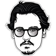 Наклейка Johnny Depp, фото 1